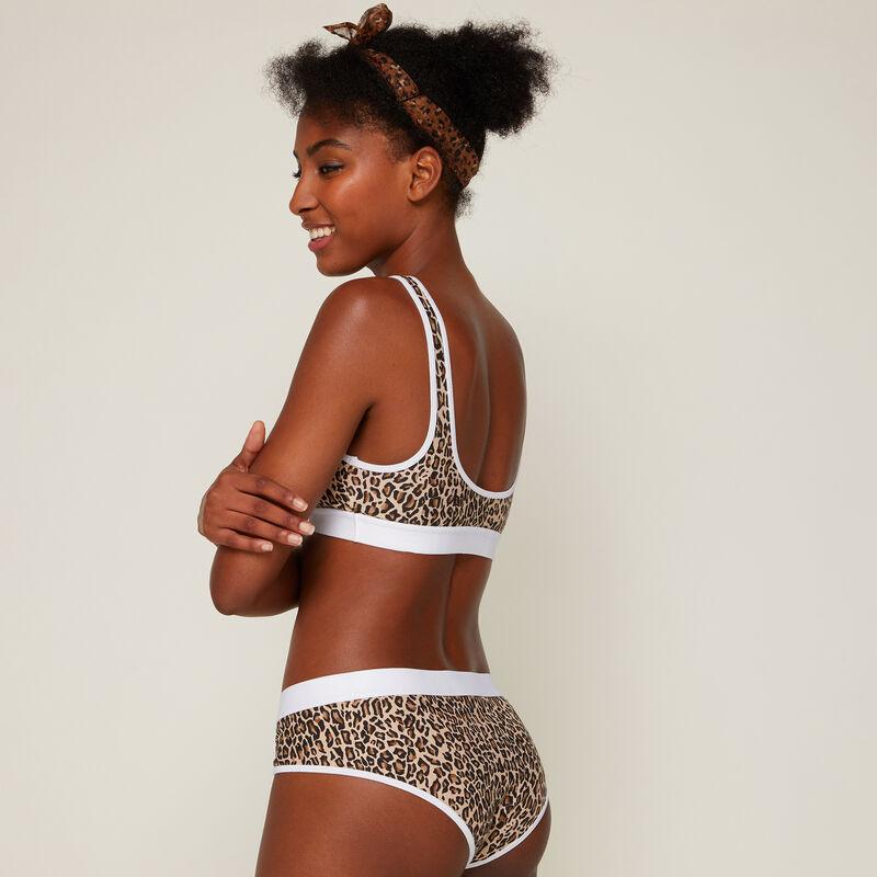 Versasimbiz leopard print jersey licensed Lion King bra;