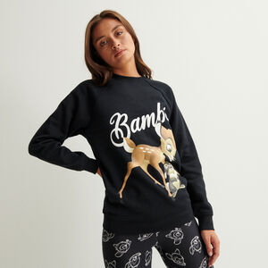 bambi print sweatshirt - black