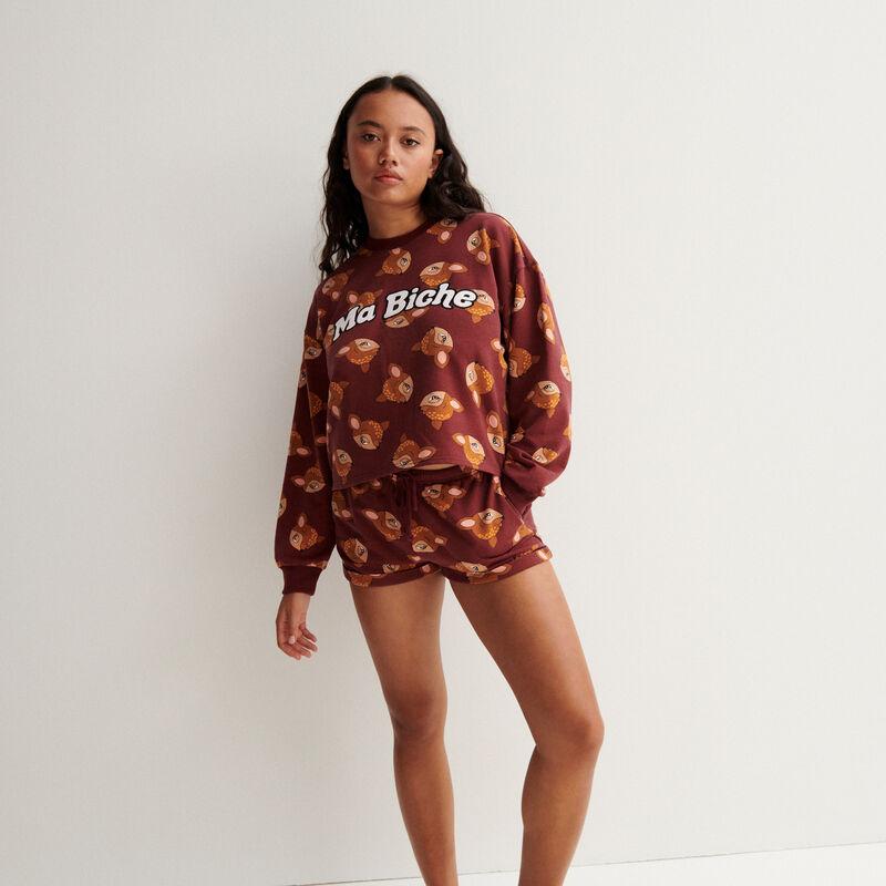 Bambi shorts - burgundy;
