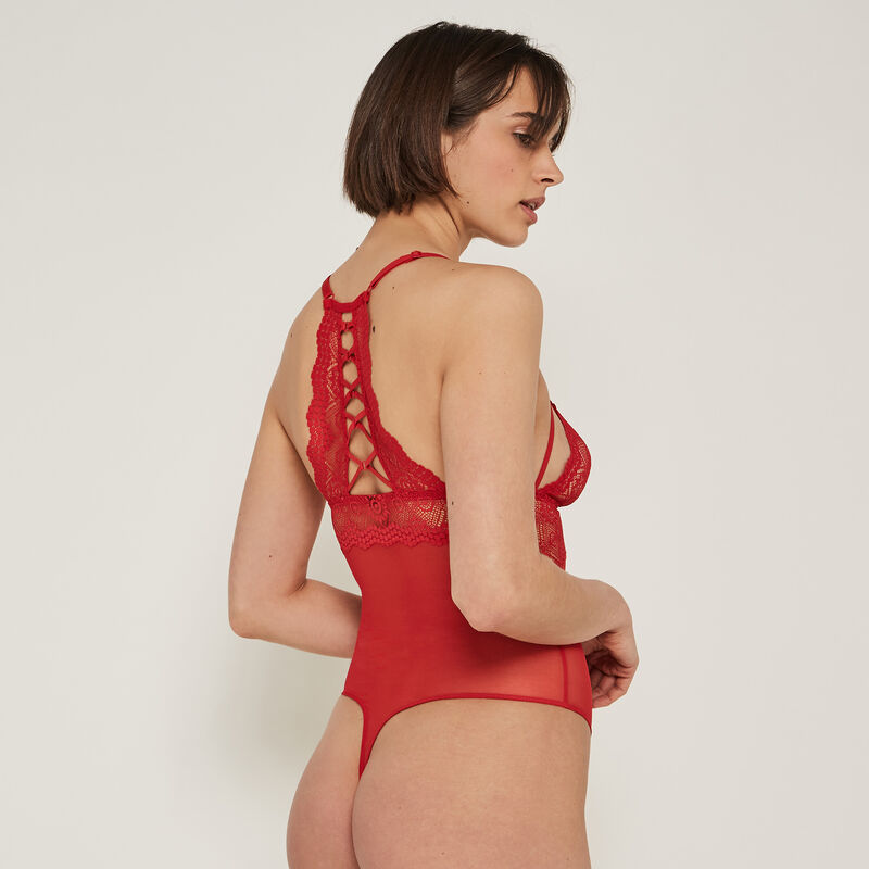 Cocktailiz lace bodysuit with no underwiring;