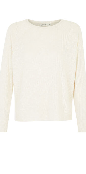 Beige paniliz sweater white.