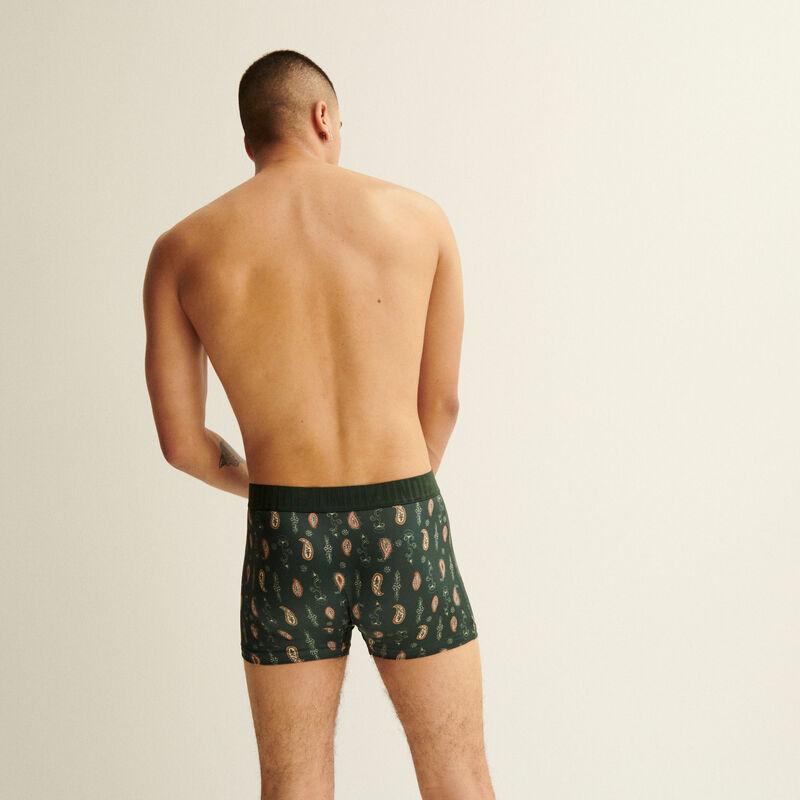 mandala print boxers - fir green;