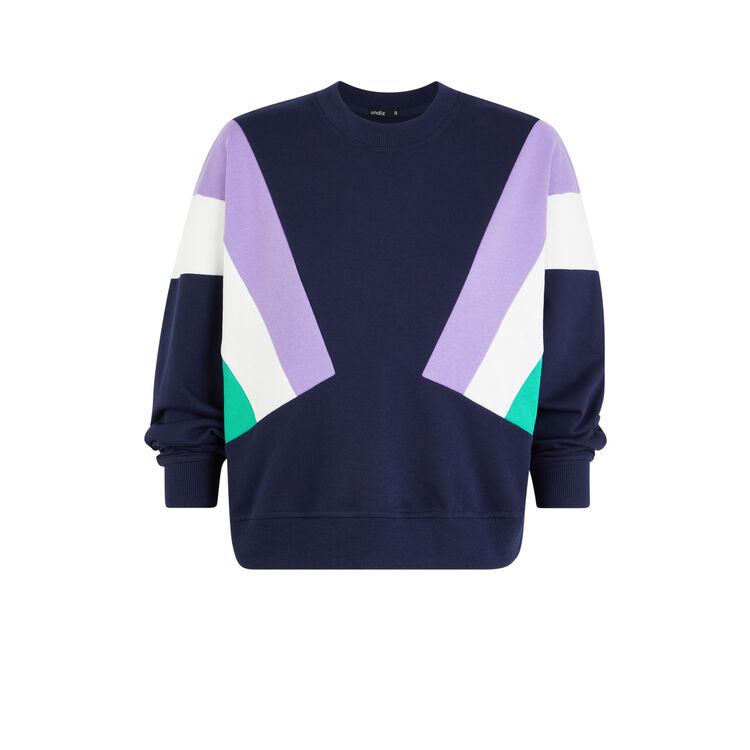 Triblockiz round neck sweatshirt with coloured bands;