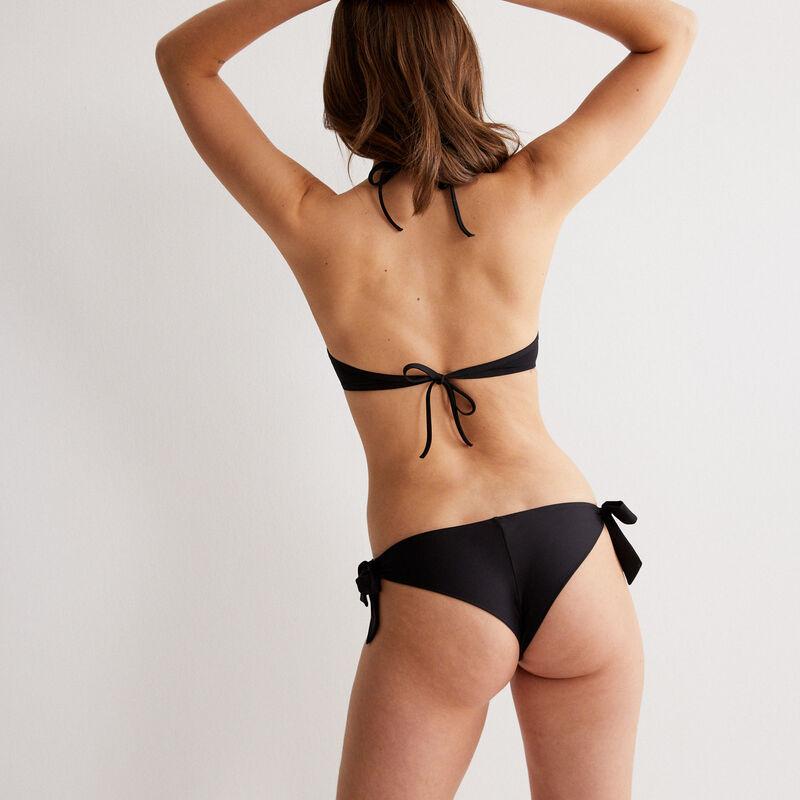 bikini bottoms with bow details - black;