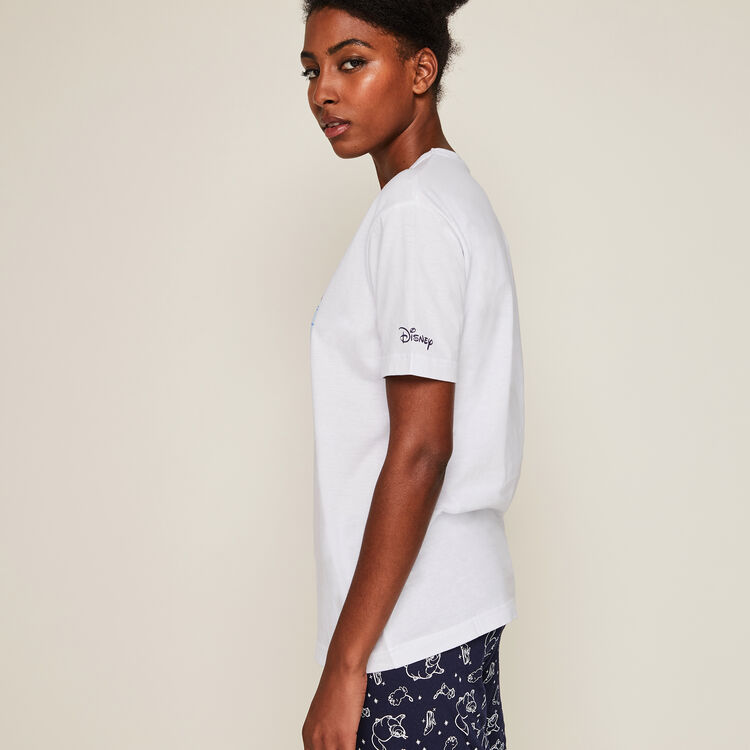 Short-sleeved, Cinderella print top;