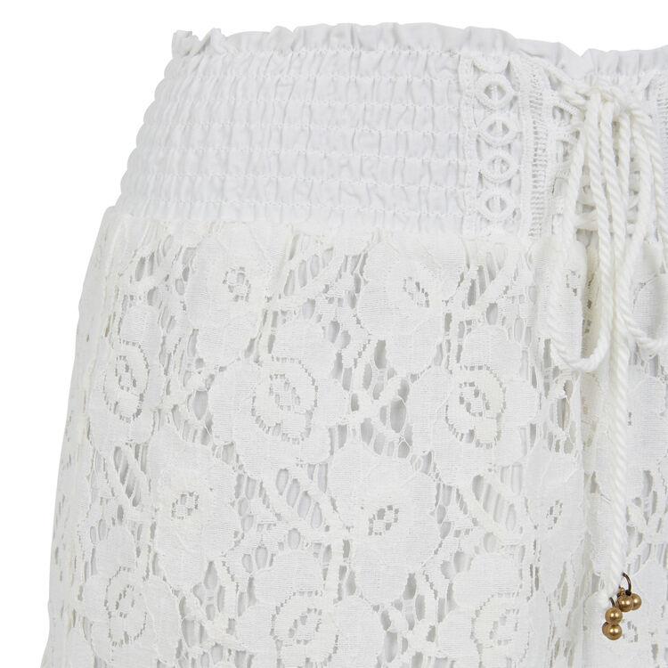 Бежевато-белые шорты shortiyiz;