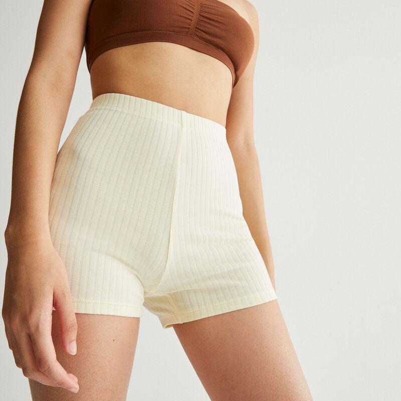 plain cycling shorts - off-white;