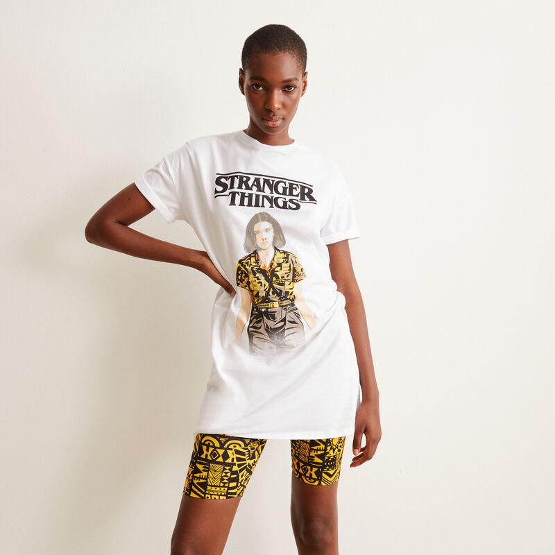 Eleven Stranger Things print tunic - white;