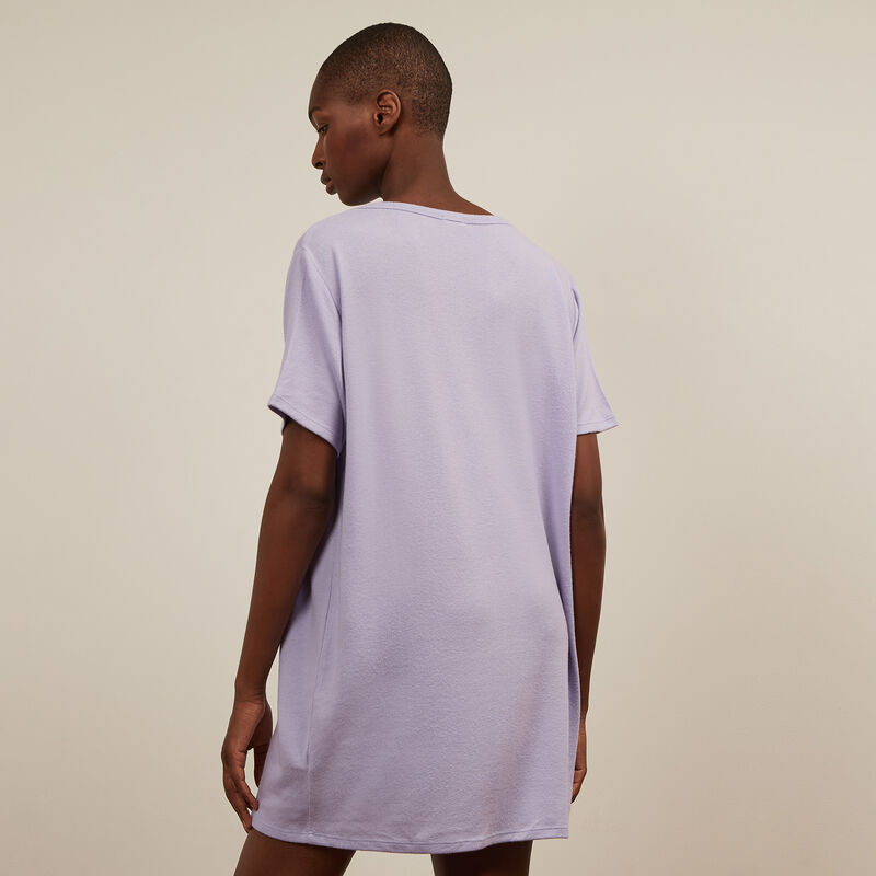short-sleeved tunic - lilac ;