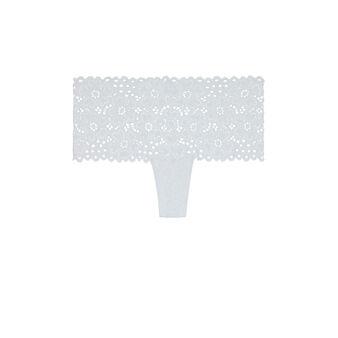 Белые кружевные трусики-шорты evoliz white.