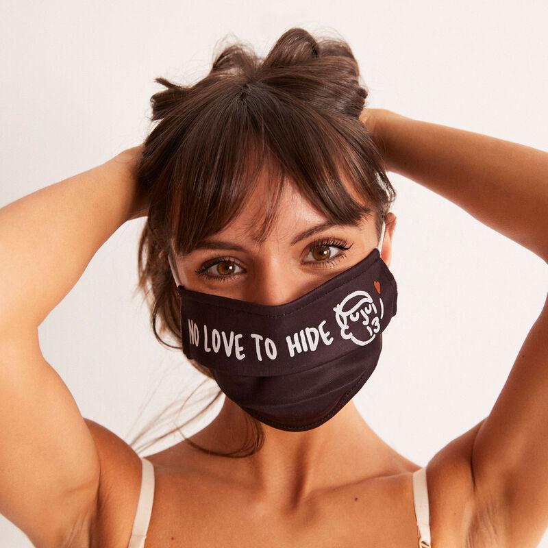 Ivan Peev print mask - black;