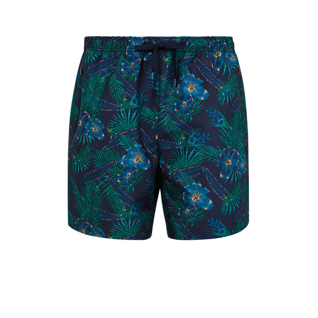 Tropinightiz navy blue swim shorts;