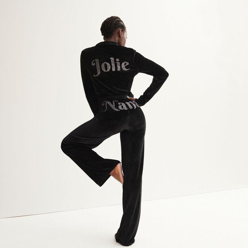 "veste ""jolie"" Aya x undiz en velours - noir;"