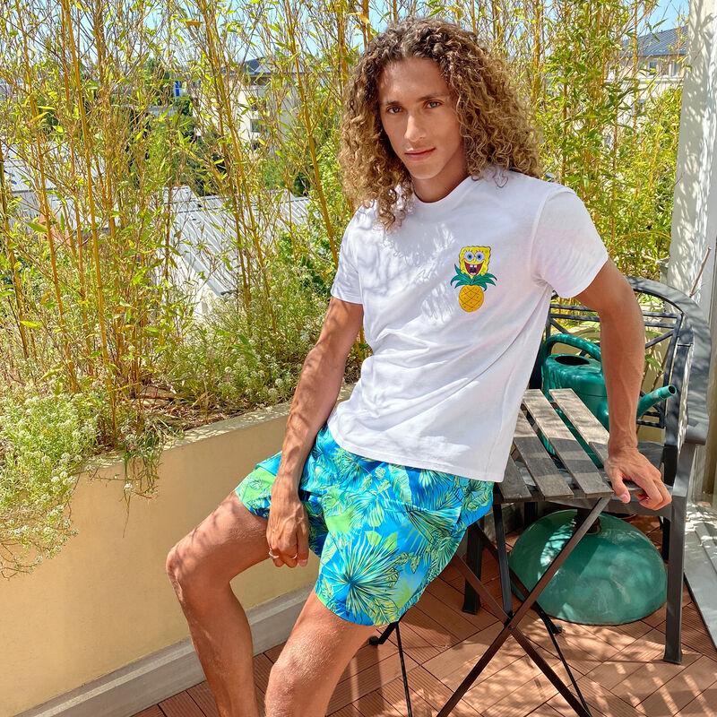 Short-sleeved SpongeBob T-shirt - white;