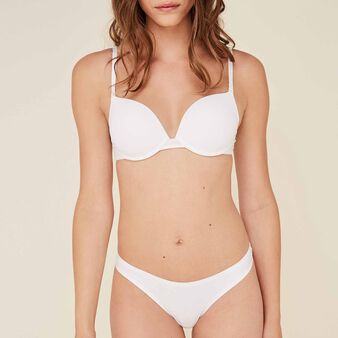 Two-pack of white microfibre thongs     white.