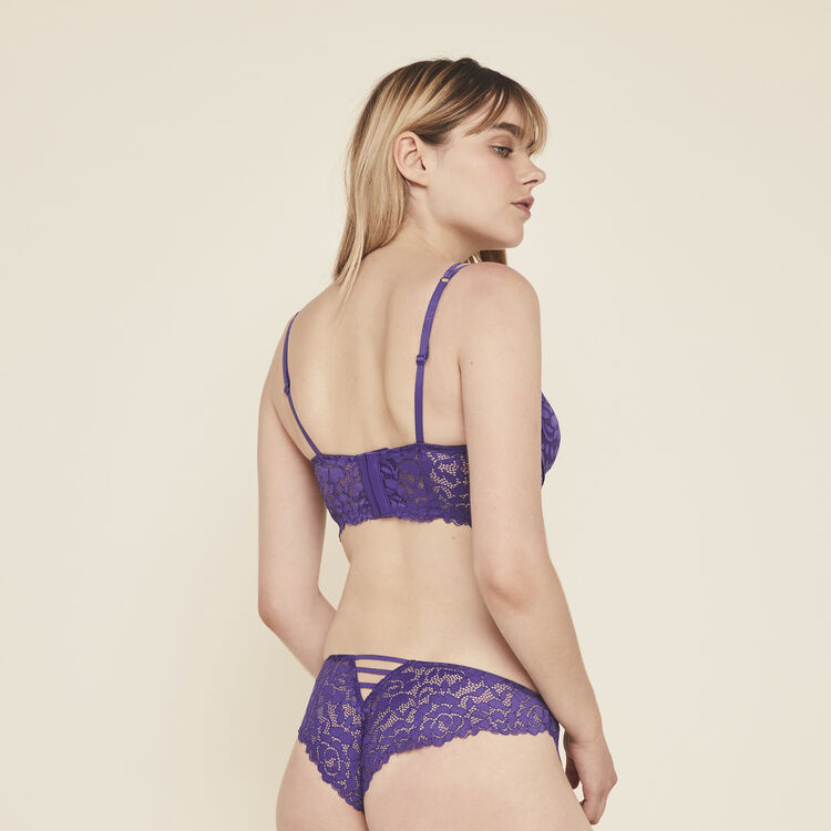 Luluiz lace tanga briefs;