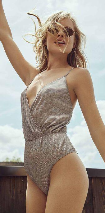 Silaloiz silver bodysuit grey.