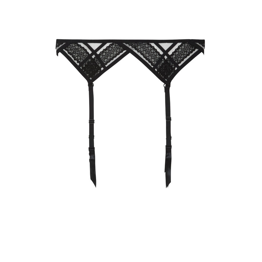 Waitiz pale pink suspender belt;