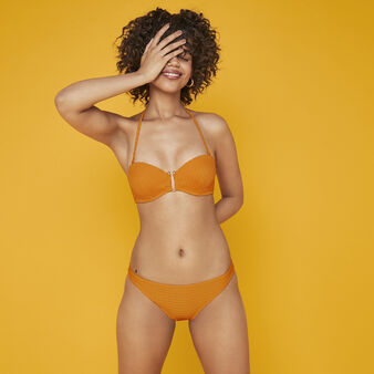 Funbraidiz orange bandeau bikini top orange.