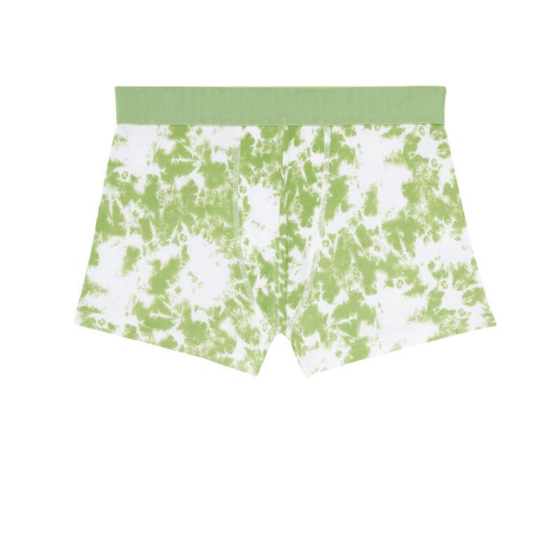 cotton tie-dye boxers - green;