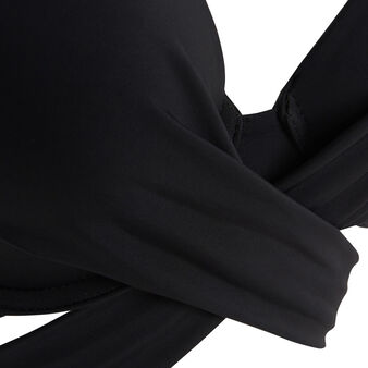Fusioniz black super push-up bikini top black.