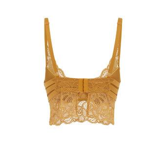 Exotiz mustard push-up bra golden brown.