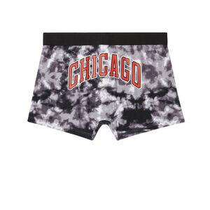 bokserki chicago bulls — czarne