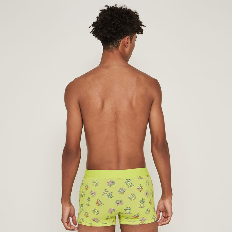 Fruit print cotton boxers - yellow;