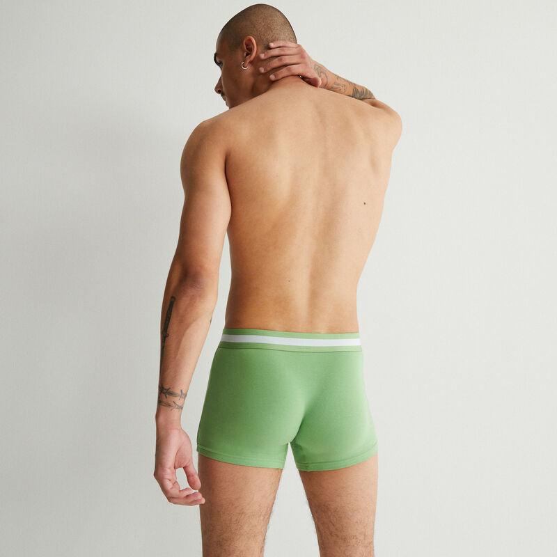 однотонные трусы-боксеры из хлопка - зеленый;