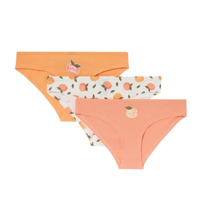 pack of 3 mood peach panties - peach;