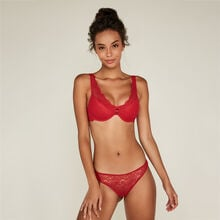 Everydayiz red push-up scarf bra red.