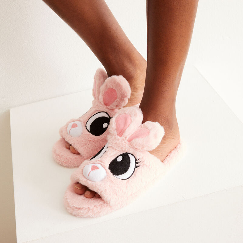 bunny slippers - pink;