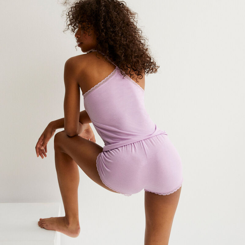 plain jersey shorts - lilac;