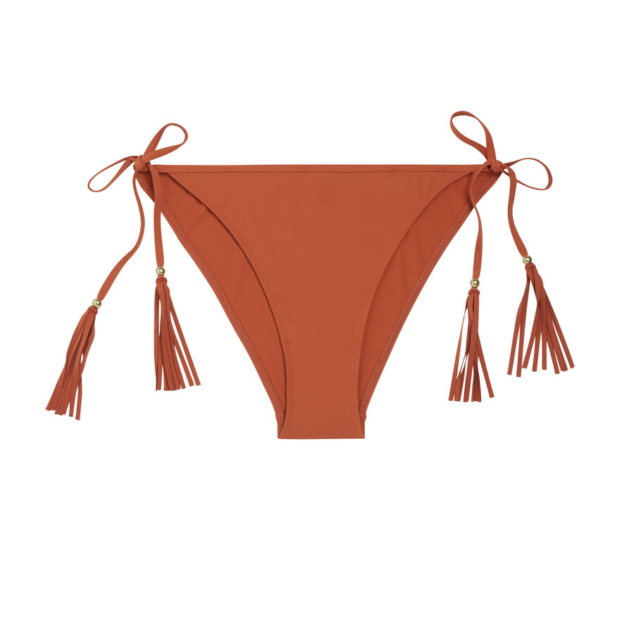 Doussiz camel-coloured bikini bottom;