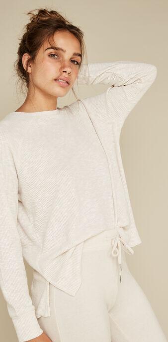 Бежевый пуловер paniliz white.