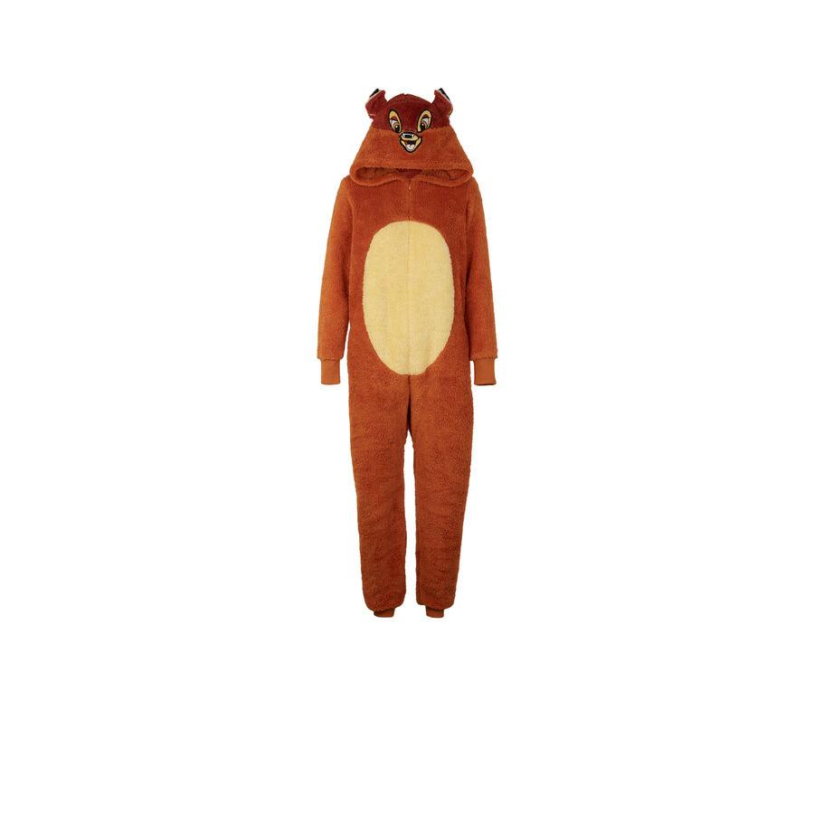 Cutebambiz brown jumpsuit;