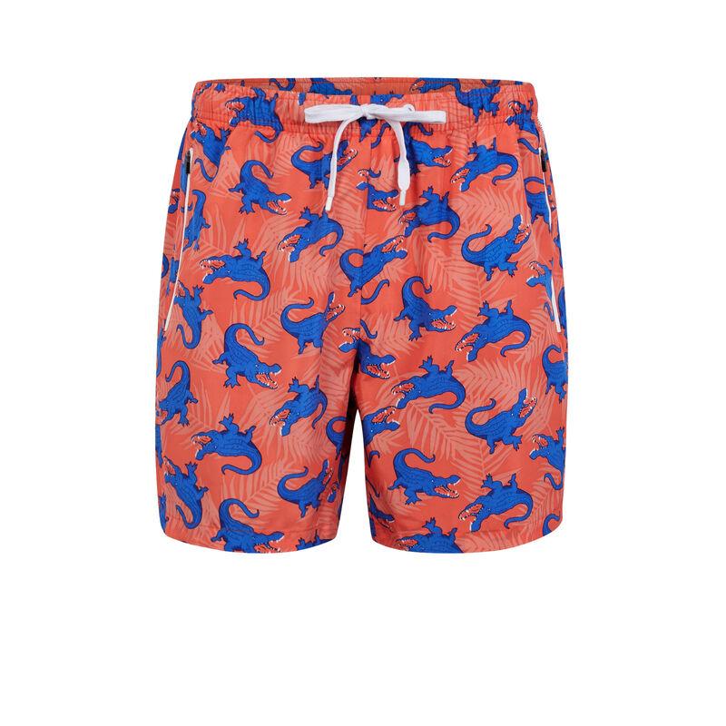 Коралловые купальные шорты crocodiliz;