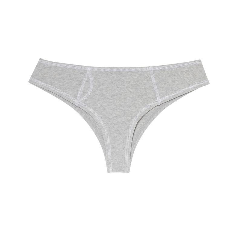 хлопковые трусики-шорты с белыми швами - серый;