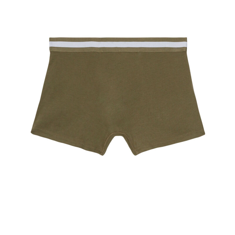 Plain cotton boxers - green;