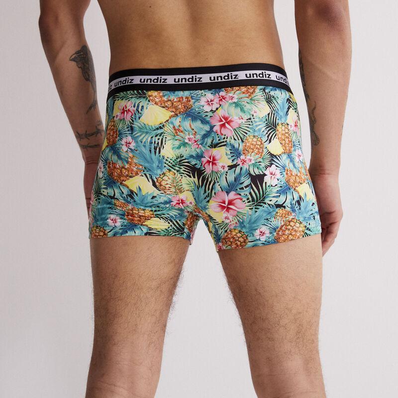 Tropical print boxers - green;
