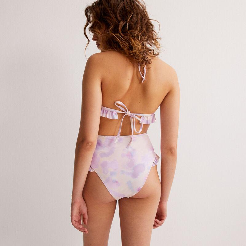 pastel tie-dye high waist bikini bottom x Romy - multicoloured;
