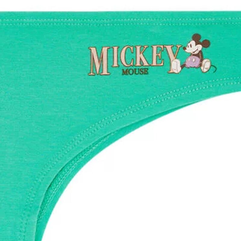Mickey print cotton tanga briefs;