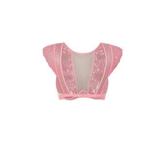 Розовый бюстгальтер-топ larosiz pink.