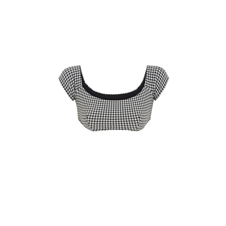 Victoriz black cold-shoulder top;