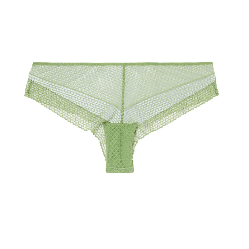 guipure lace cheeky briefs - green;