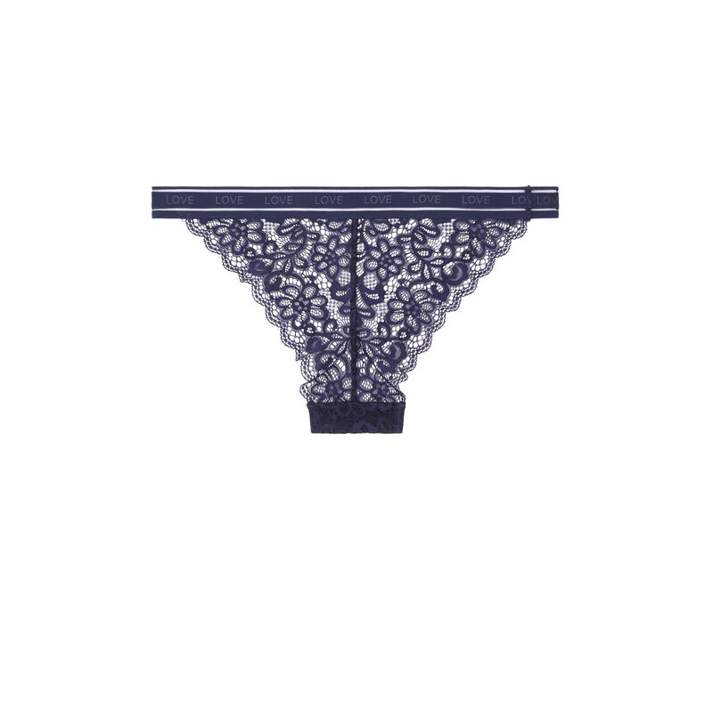 Lace briefs - blue;