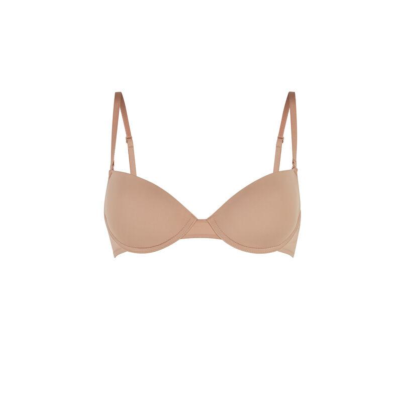 Microfibre padded bra - nude;