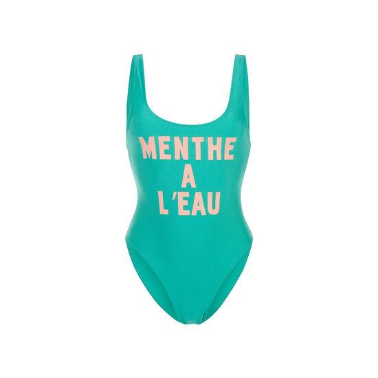 Mintiz green one-piece swimsuit;