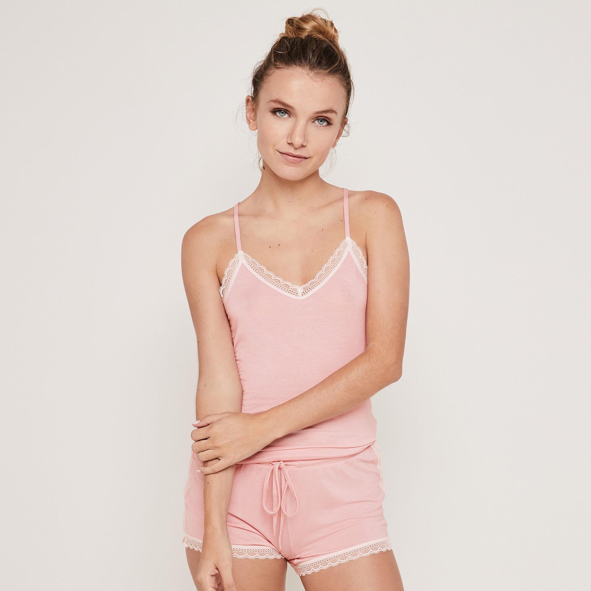Vitamiz jersey top with thin straps pink Undiz