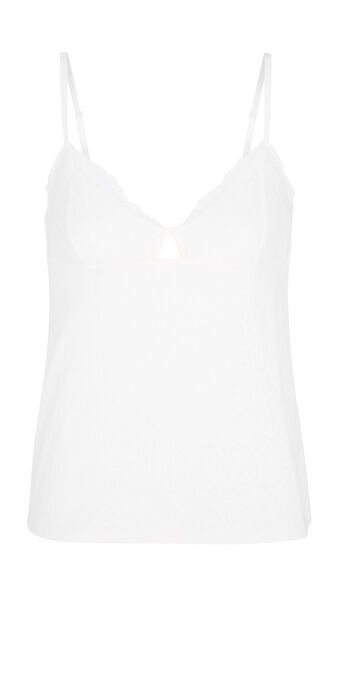 Lascaliz ecru top white.